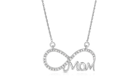 1/10 Cttw Diamond Mom Infinity Pendant in Sterling Silver 2efa4a09-f59e-4bf7-9943-bee9d1c6aa8f