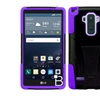 Insten Hard Dual Layer Silicone Case For Lg G Stylo Black/purple