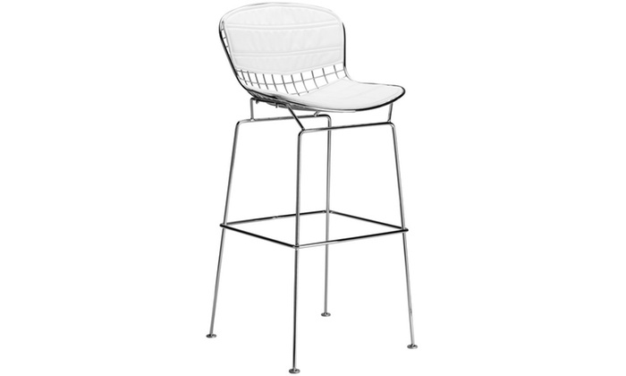 Astonishing Poly Bark Morph Bar Stool In White Groupon Bralicious Painted Fabric Chair Ideas Braliciousco