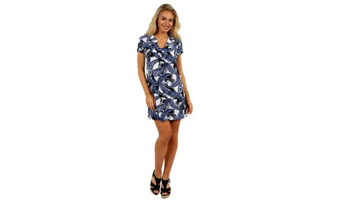 24/7 Comfort Apparel Blue Sky Minidress