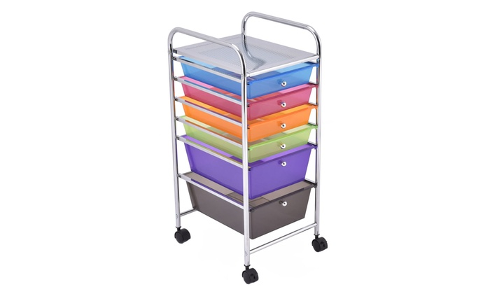Up To 43 Off On 6 Drawer Rolling Storage Cart Groupon Goods