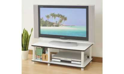 Closeout Swindon Modern Two Tone Walnut And White Tv Stand With
