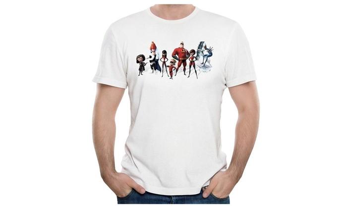 SaqT Men The Incredibles 2 Movie T-shirt