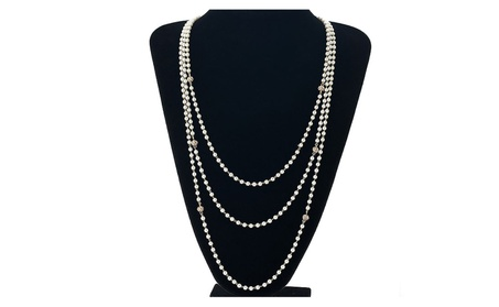 Multilayer Simulated Pearls Rhinestone Long Women's Necklace 93beb30d-5fc1-4590-8cf2-e449b35d31c8