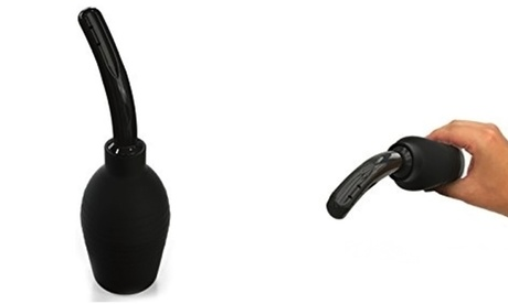 Premium Fresh And Clean 2-In-1 Sanitary Cleansing Bulb- Black f05747ea-065c-4677-855e-80cb5464b272