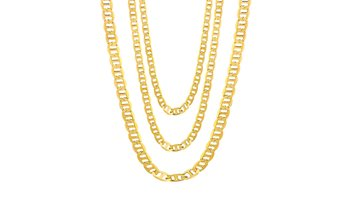 18K Gold Flat Marina Chain Necklaces By Sevil