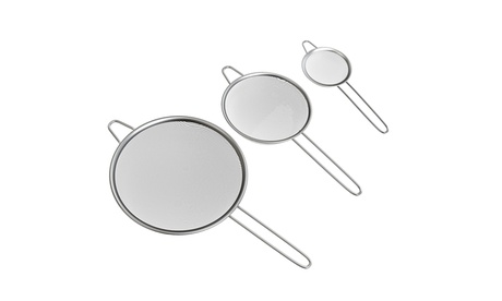 Fine-Mesh Stainless Steel Strainer Set (3-Piece) fbc46413-e7c0-4ad5-994b-a40a05a35fcb