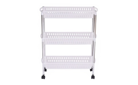 3 Layers Portable Trolley Cart Thick Serving Medical Instrument 53f6b7ab-0e68-46f5-b5c7-665b68175643