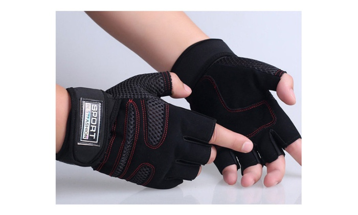 Gloves Workout Wrist Wrap Sports Exercise Training