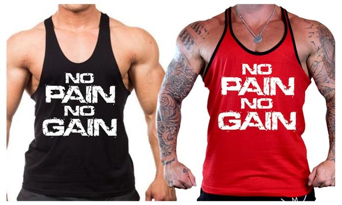 Men's No Pain No Gain Stringer Tank Top