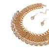 African Beads Collar Necklace Women's Earrings Set