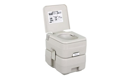 Yaheetech 5 Gal 20L Portable Outdoor Camping Recreation Toilet ed481db9-37ff-4d4f-a88c-f2c45f6c428c
