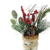 Iced Pine Cones Sprigs and Berries in a Burlap Basket Christmas Decor