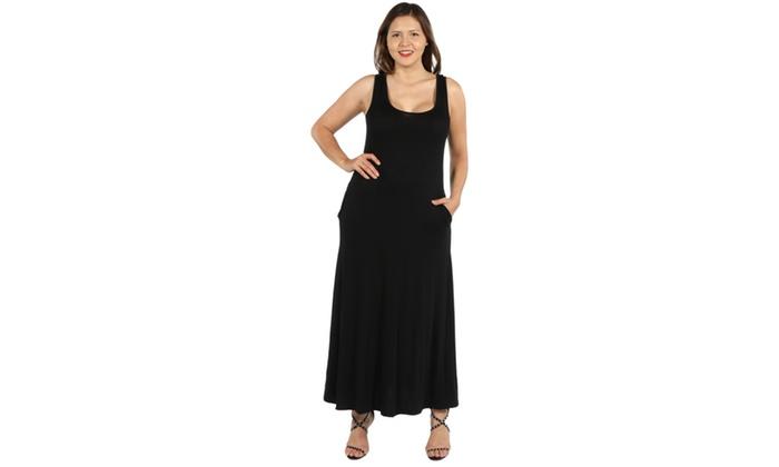 505fd8848b52 24Seven Comfort Apparel Marion Sleeveless Plus Size Maxi Dress | Groupon
