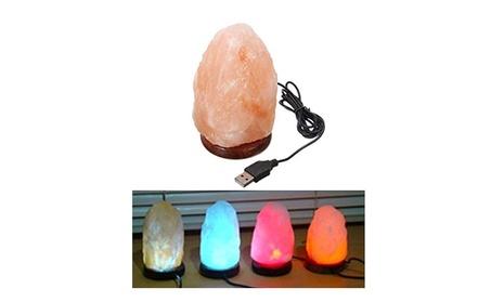 7 LED Color Natural Rock Himalaya Salt Lamp USB Powered Air Purifier 0076930c-5717-44a8-8b56-14f0c87f59a7
