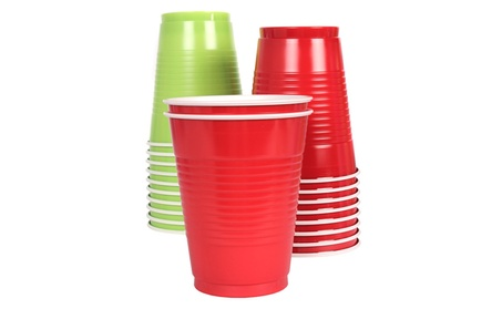 Vibrants Dual Color 16 fl. oz. Plastic Cups, 148 Count b24e2cd8-c5ba-448e-8a6a-91537ffa361a