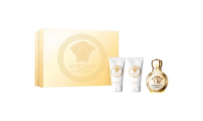 ... Versace Eros Pour Femme 3 Pcs Mini Gift Set Edp Spray For Women 689d2be2e16