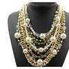 Exquisite Vintage Simulated Pearls Chains Pendant Necklace