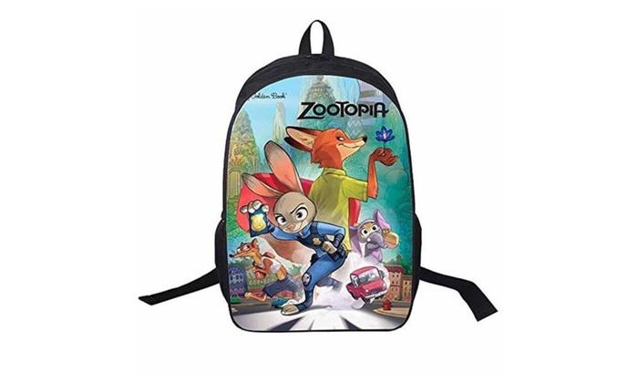 EPSW Cartoon Zootopia Unisex School Backpack Style3 - Black / One Size