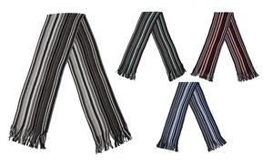 Men's Soft Striped Dress Scarf
