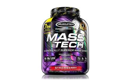 MuscleTech Mass Tech Pro Weight Gainer Protein Powder, Strawberry, 7lb