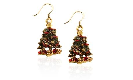 Christmas Tree Charm Earrings a0704804-ca9d-495a-aadf-96a47a28ae99