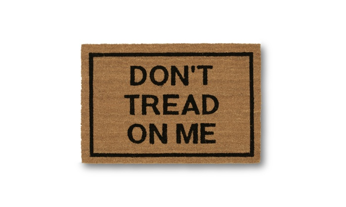 Clever doormats don 39 t tread on me brown coir doormat groupon - Clever doormats ...