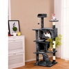 "51"" Cat Tree Condo Kitten Tree Tower w/2 Condos & Scratching Posts"