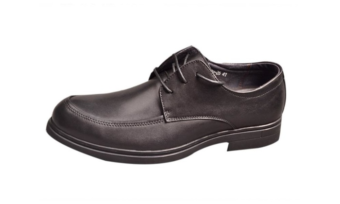 Men's Fashion Leather Lace up Wicking Loafers Dress Shoes