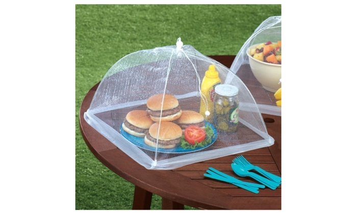 Set Of 2 Large Pop Up Mesh Screen Food Cover Tents Groupon