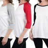 (3 Pack) Women's Classic Cotton Baseball T-Shirts