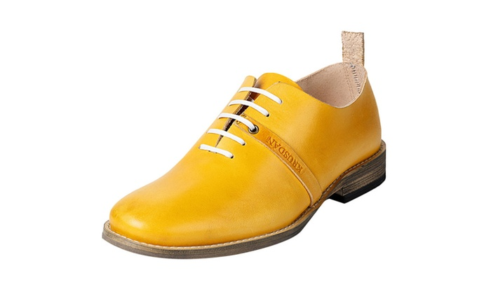 Men's Genuine Leather Lace Up Oxford Shoes