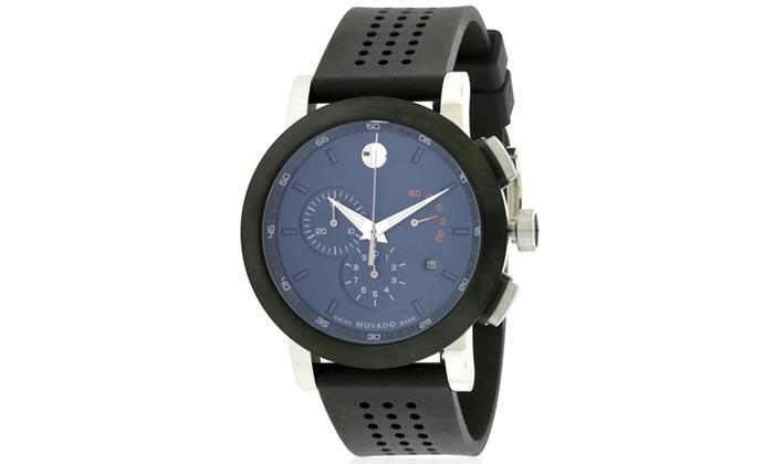Movado Museum Sport Rubber Chronograph Mens Watch 0607002