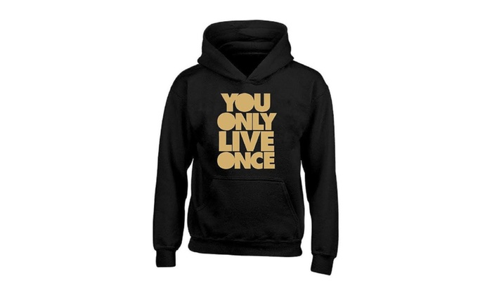 You Only Live Once Gold Hoodie