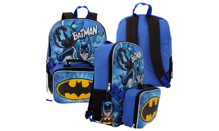 73f0318e4b DC Batman Backpack with Lunch Bag - 16