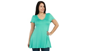 24/7 Comfort Apparel Kathy Plus Size Tunic Top