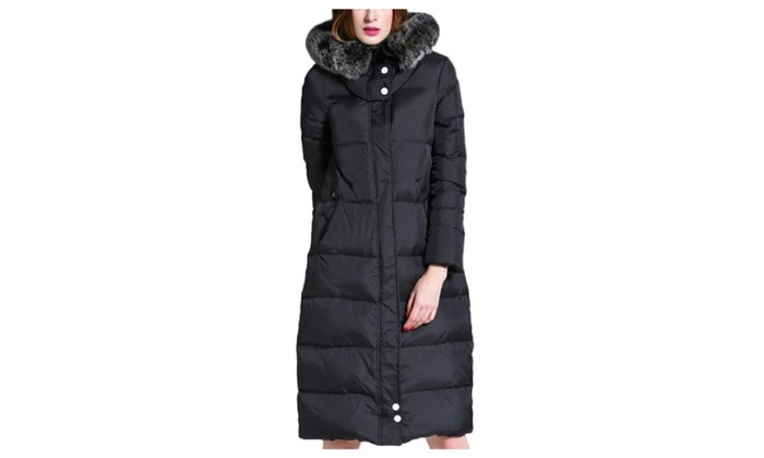 Women's Zip Closure Insulation Casual Hooded Down Coat