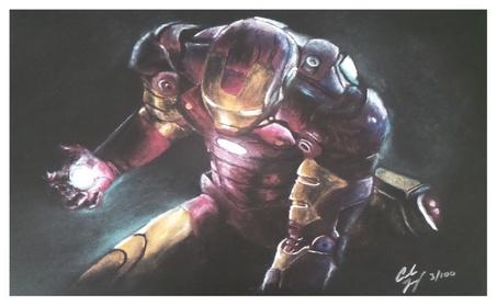 Robert Downey Jr. The Avenger's Iron Man Limited Edition Litho Print 9c4ad6b4-6d40-4666-b0d0-e32a00d3f8fc
