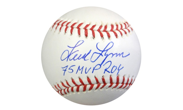 Autographed Fred Lynn Boston Red Sox Official MLB Baseball