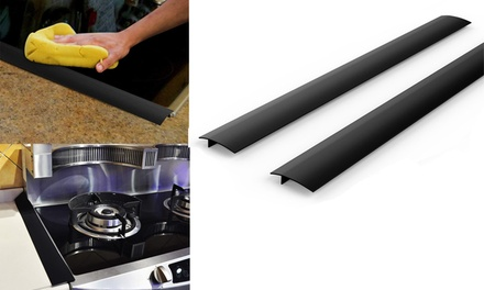 2-6 Pack Silicone Stove Cooktop Counter Gap Covers Kitchen Gap Filler Cover