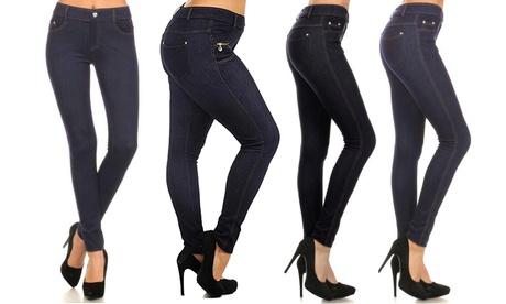 Super Stretchy Jean Leggings (Jeggings) in Regular & Plus Size