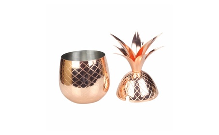 Solid Copper Pineapple Tumbler Mug with Copper Straw bf8745d5-fc3a-45ac-8dfd-d56e1bed9190
