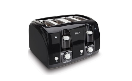 Sunbeam 3911 4-Slice Wide Slot Toaster, Black photo
