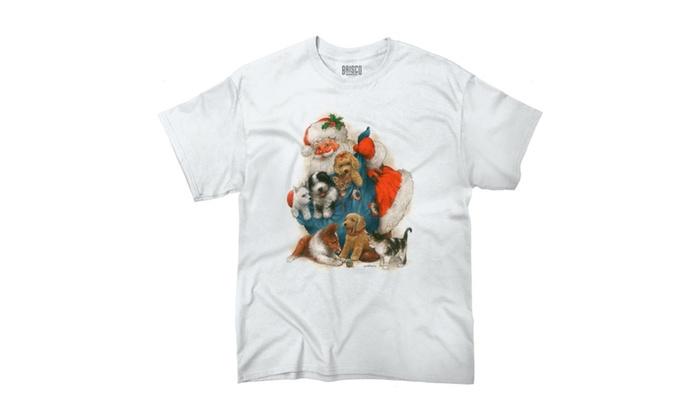 Santa Big Bag of Puppies and Kittens T-Shirt