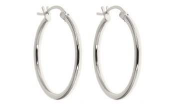 Classic French Lock Earring Hoops in Solid Sterling Silver