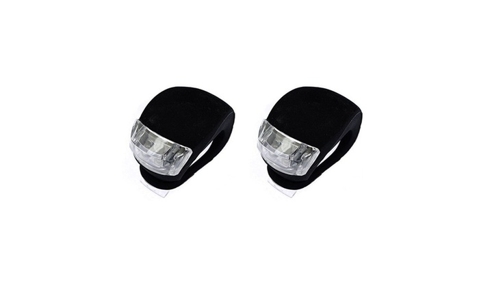 2 Bike Light,  Clip-on Silicone Bike Bicycle Front Rear Safety LED