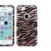 Insten Tuff Zebra Hard Dual Silicone Case For Iphone 5c Rose Gold
