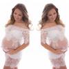 Maternity Photography Lace Dress Slash Neck Pregnant Lace