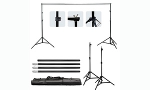 10Ft  Adjustable Photography Video Background Support Stand Kit w/carrying bag