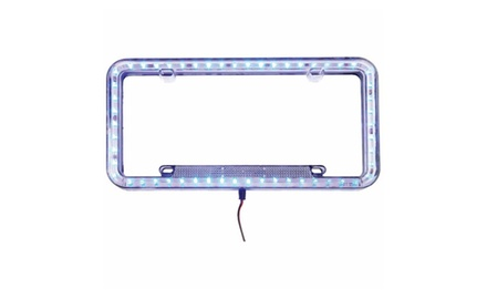License Plate Frame With LED Lighting